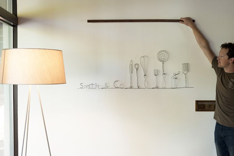 Art Project – Cafe Wire Sculpture   Made by Joel   Home Goods ...