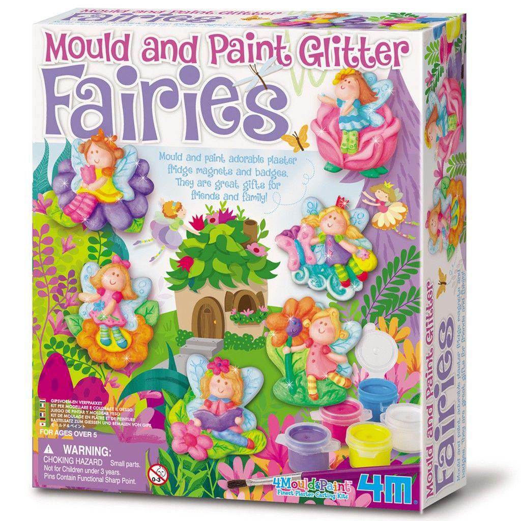 Fairies /& Unicorns Plaster Cast Fridge Magnets Make Your Own Set For Kids