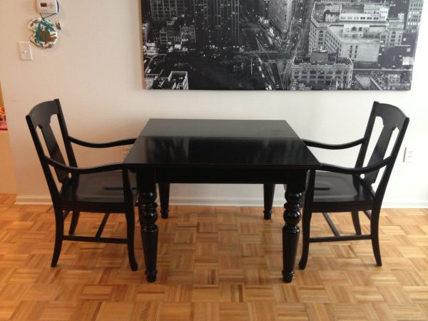 We Are Selling Our Pottery Barn Francisco Dining Room Table And 2 Loren Arm