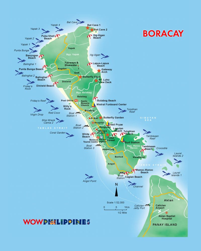 Boracay Island map for your travel references  Travel  Pinterest