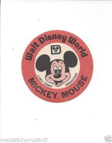 Vintage Walt Disney World Mickey Mouse Iron On Patch WDP 1960's
