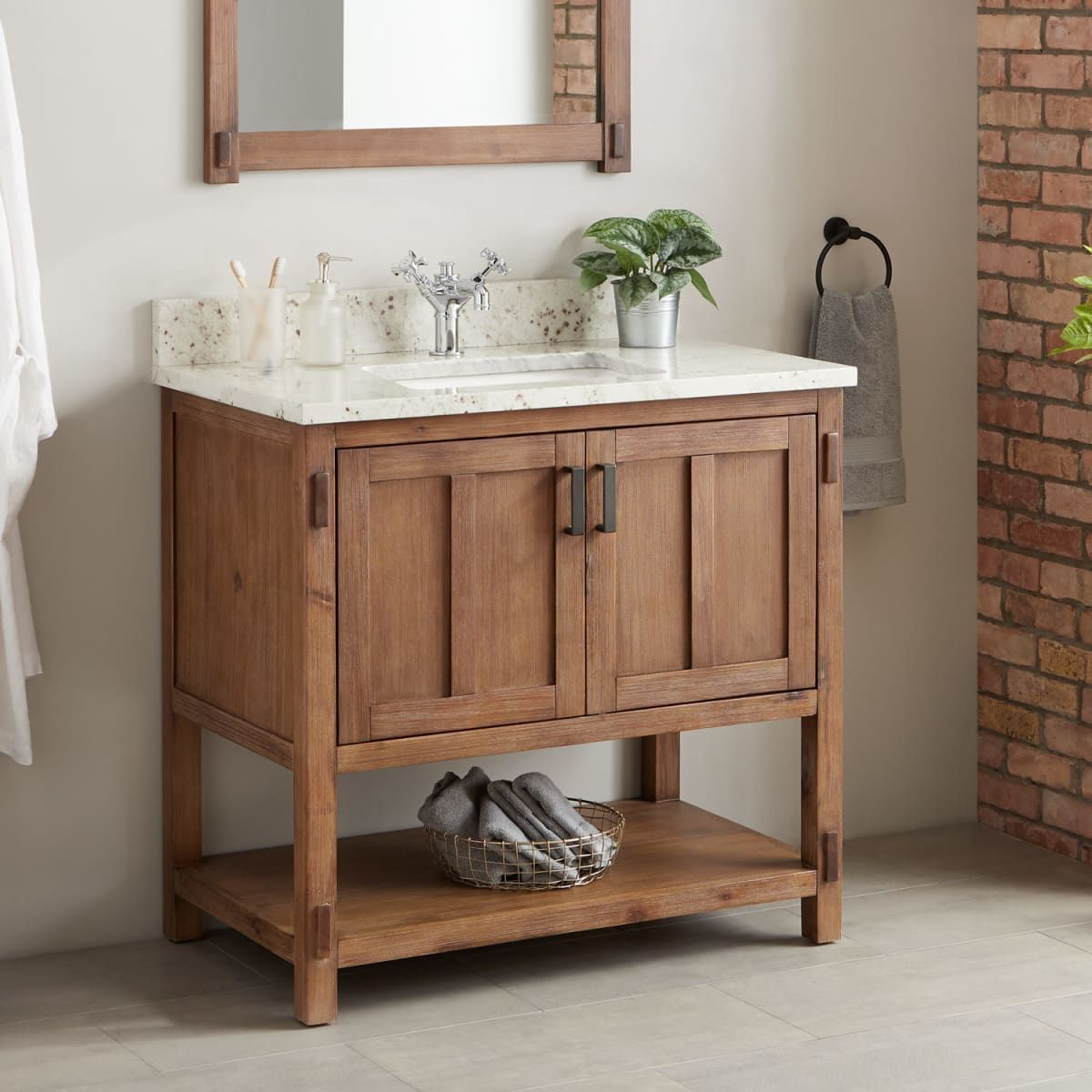Signature Hardware 440201 Build Com Wooden Bathroom Vanity