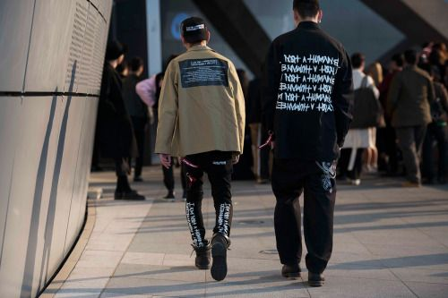 http://chicerman.com  billy-george:  Written  Spotted at Seoul Fashion Week  Photo by Jun Hyeong Yang  #streetstyleformen