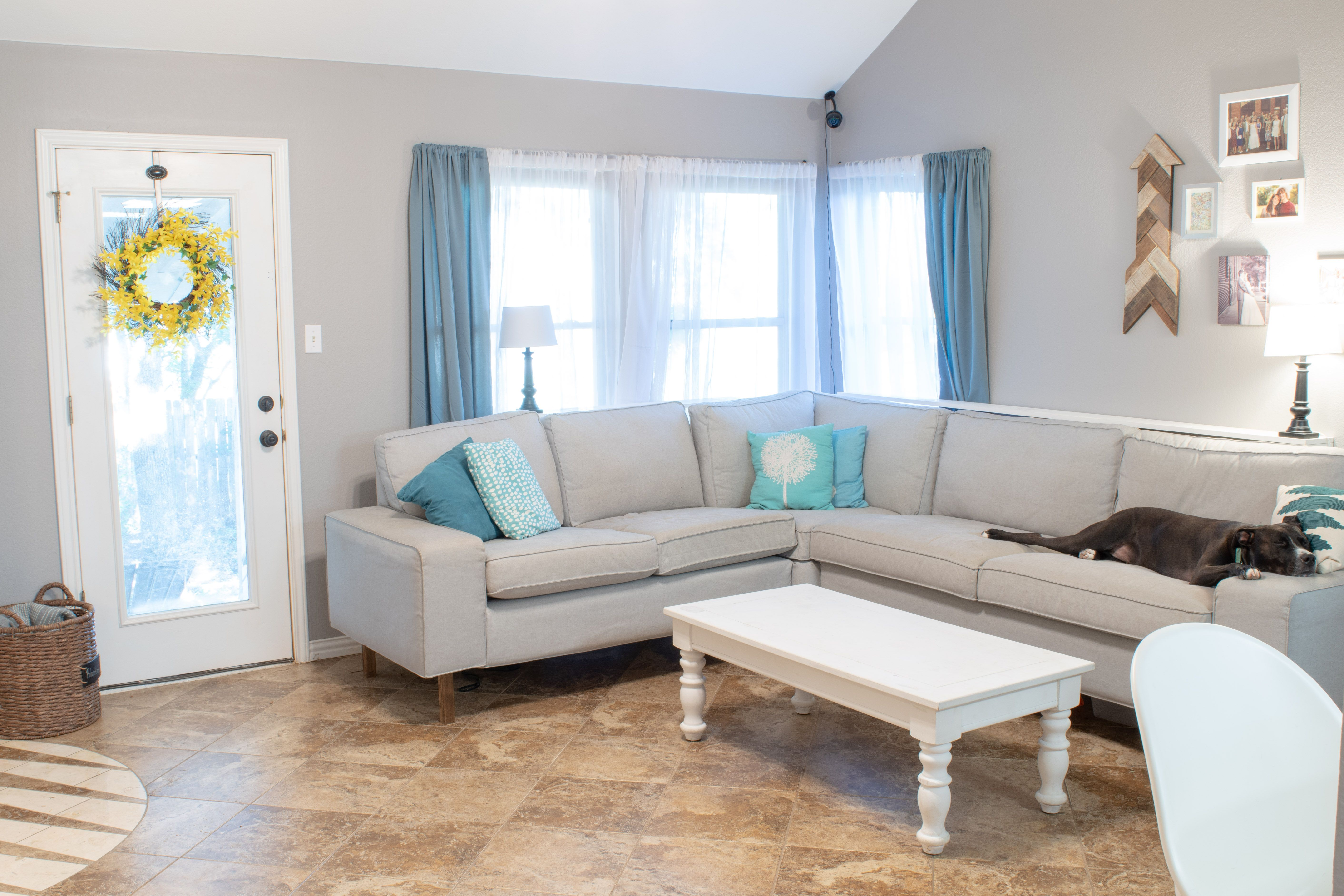 Adding Legs To An Ikea Sofa Diy Without Fear Ikea Sofa Trendy Living Rooms New Living Room