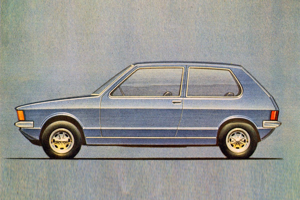 OG |1974 Volkswagen / VW Golf Mk1 - EA 337 | Giugiaro's design sketch