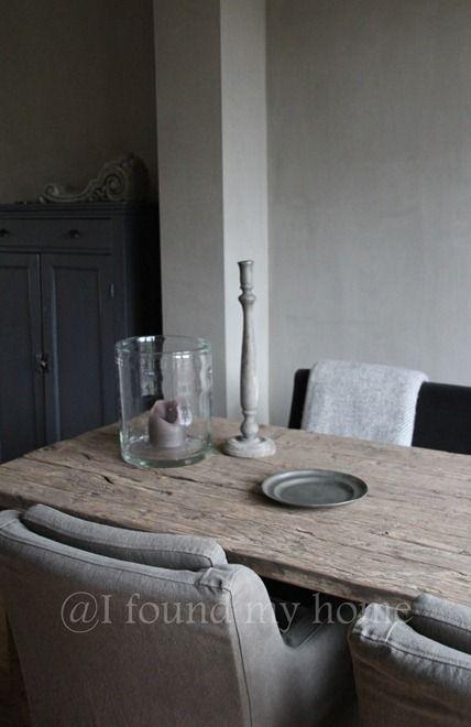Prachtige tafel landelijk oud hout wonen landelijk for Decoratie tafel landelijk