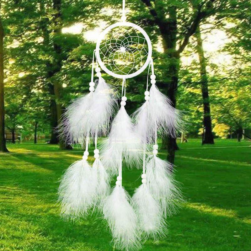 Chambre /à Coucher Maison f/ête d/écoration. D/ÉCOCO DIY Fait /à la Main Plumes Dream Catcher pour Suspendre au Mur Ornement Craft Cadeau Mariage