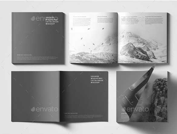 Free Download Realistic Square Magazine Mockup Design Titi Magazine Mockup Magazine Mockup Free Mockup