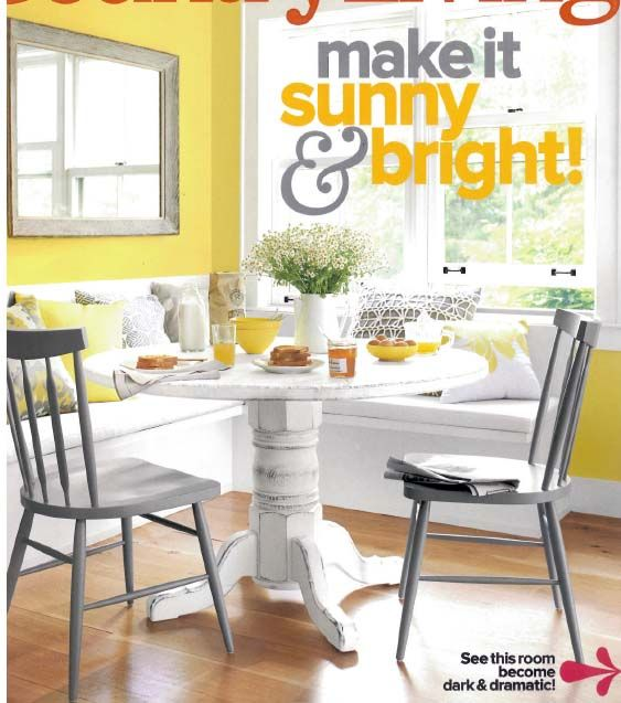 Yellow dining room kitchen ideas pinterest yellow for Grey yellow dining room ideas