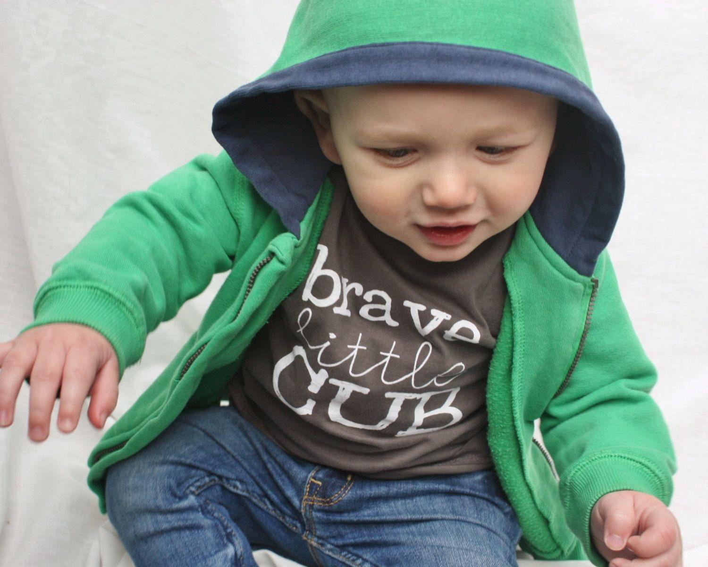 Baby Brave Little Cub Printed Tshirt Baby Girl Tshirt by DearCub, $13.00