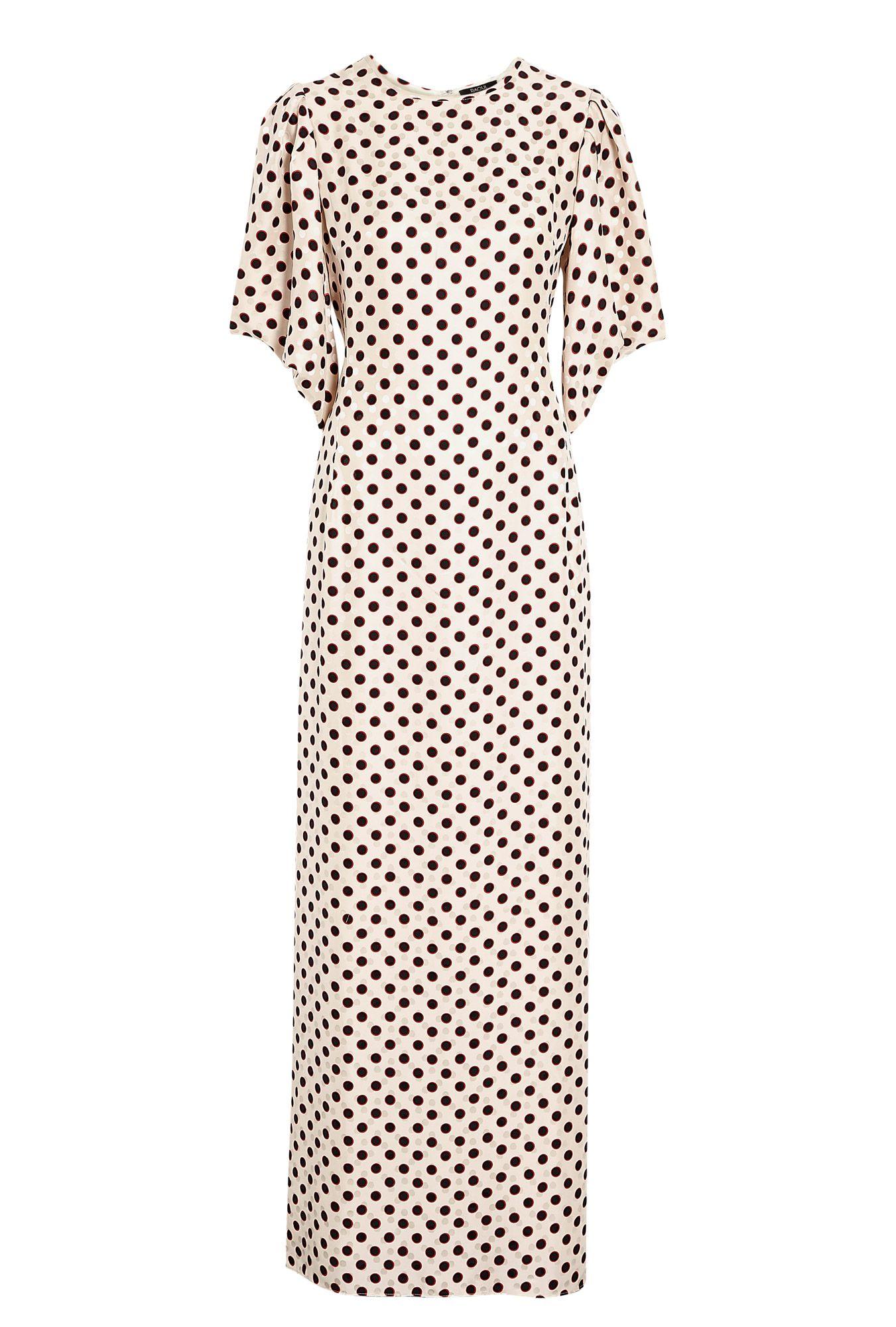 Tara polka dot silk maxi dress by raoul made pinterest maxi