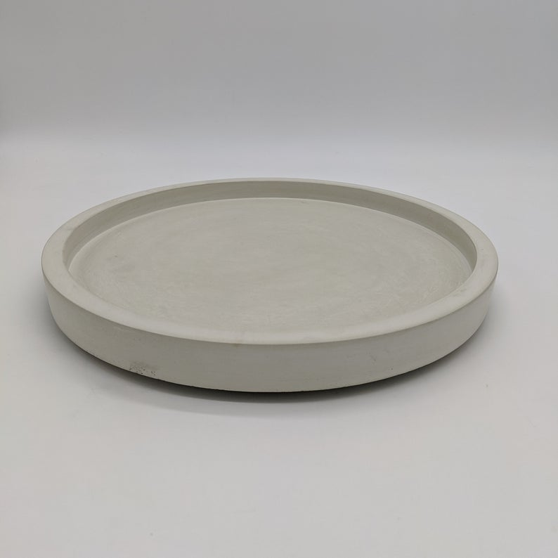 Concrete Lazy Susan 11 5 Round Concrete Tray Etsy In 2020 Lazy Susan Tray Tray Decor