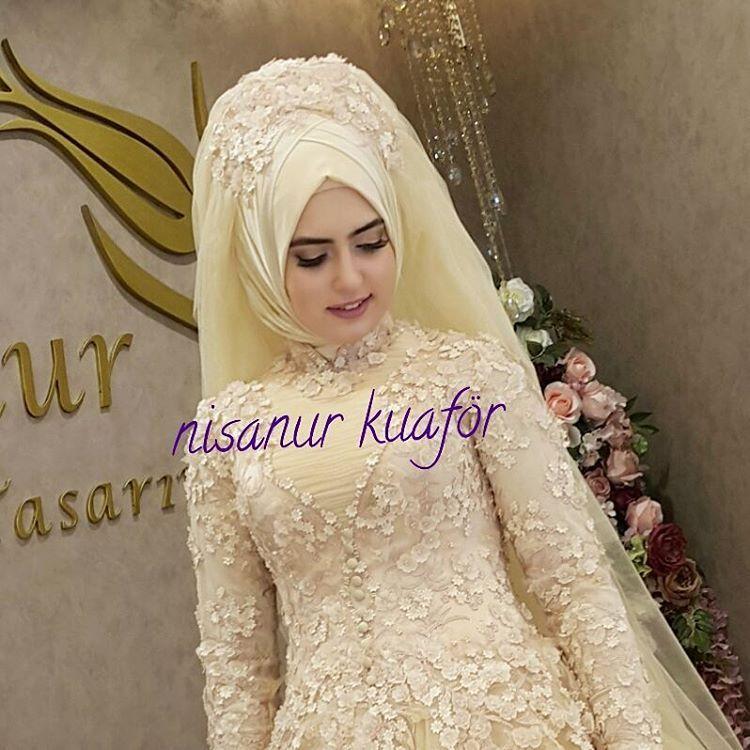 32a0289eddccc nisanur kuaför hayırlı akşamlar diler | Muslim Bridal Hijab(Niqab ...