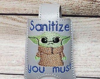 Sanitize You Must Hand Sanitizer Holder Key Fob