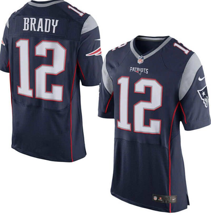 Mens Tom Brady New England Patriots Jersey  12 Home Nike Stitched Elite  Jersey 0536103d910e8