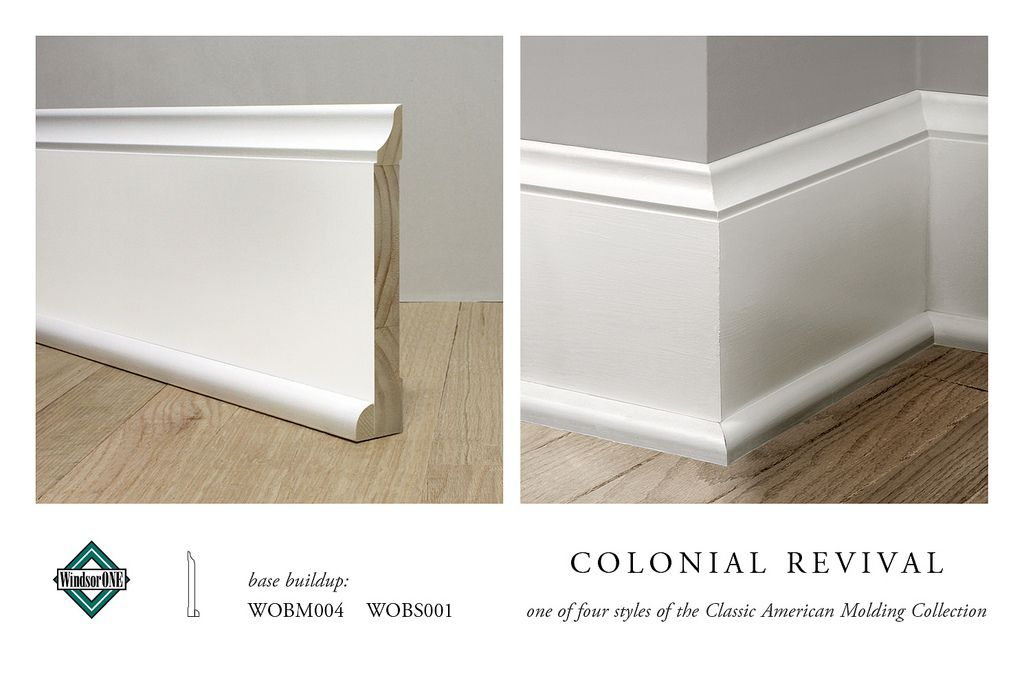 Colonial Revival Base Molding Moldings And Trim Baseboards Farmhouse Trim