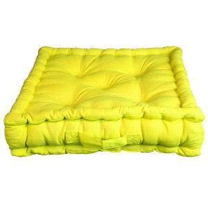 Coussin de sol 100% coton coloris VERT Anis   Jardin: meubles ...