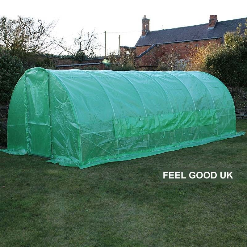 6m x 3m x 2m galvanised #polytunnel #greenhouse - with Metal Door #allotment & 6m x 3m x 2m galvanised #polytunnel #greenhouse - with Metal Door ...