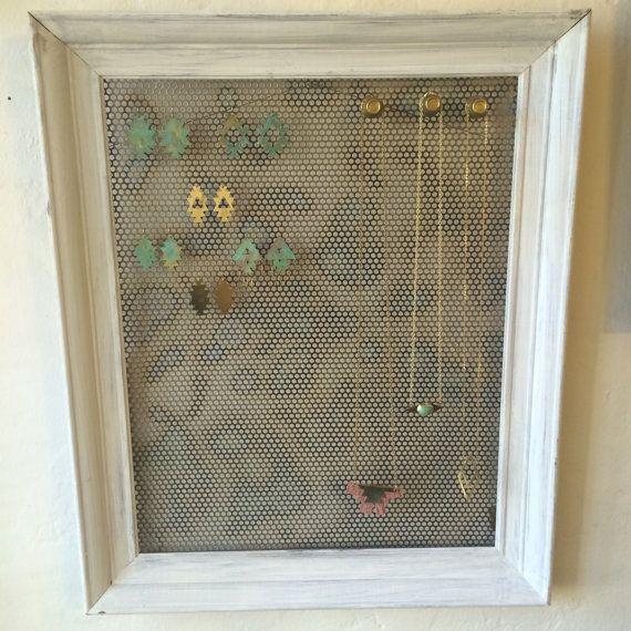 Large Hanging Jewelry Organizer Magnetic by JewelryDisplayChicks