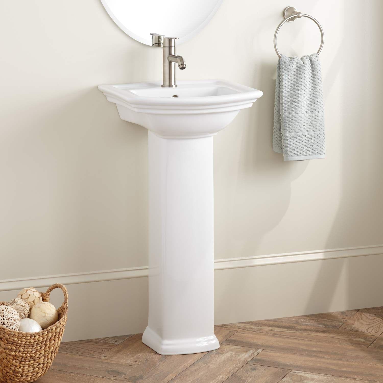 Mini Washington Porcelain Pedestal Sink Single Hole Pedestal