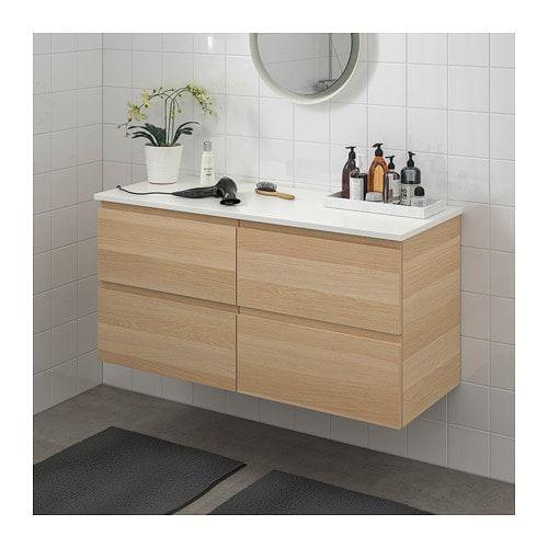 White Wash Gel Stain: GODMORGON / TOLKEN Wash-stand With 4 Drawers