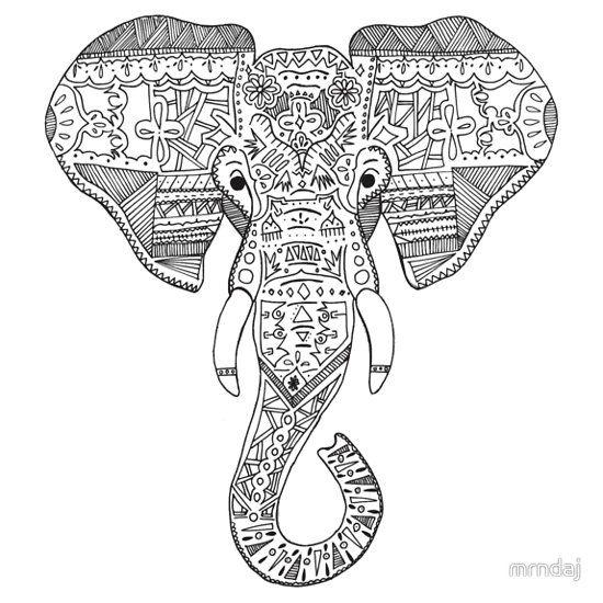 Elephant Head   Tattoos   Pinterest   Animales