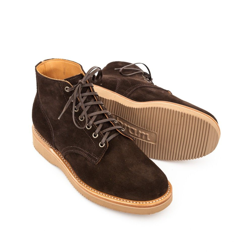 Viberg Service Boot in Arabica Suede  Sand 2060 Sole  VIBERG BOOTS   BRANDS