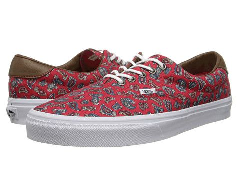 845ef6387bf02a Vans Era 59 (Paisley) High Risk Red - Zappos.com Free Shipping BOTH Ways