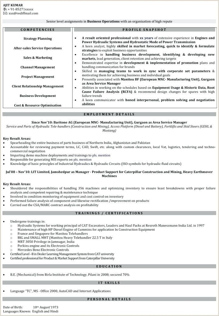 Fresher Resume format Download In Ms Word India Fresher