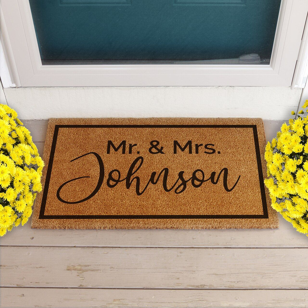 Mr and mrs personalized doormat wedding gift personalized