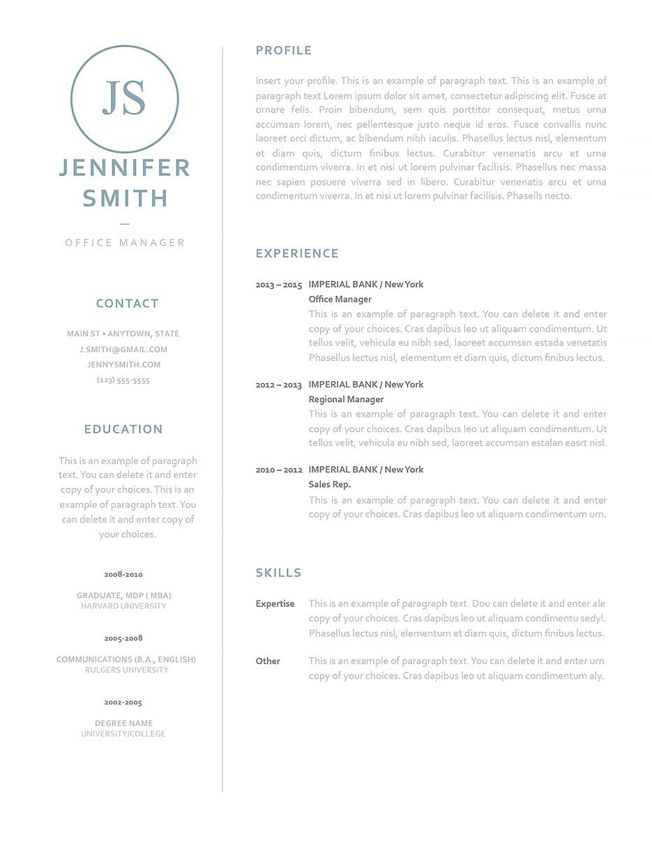 Classic resume template 120040 templates by resumeway