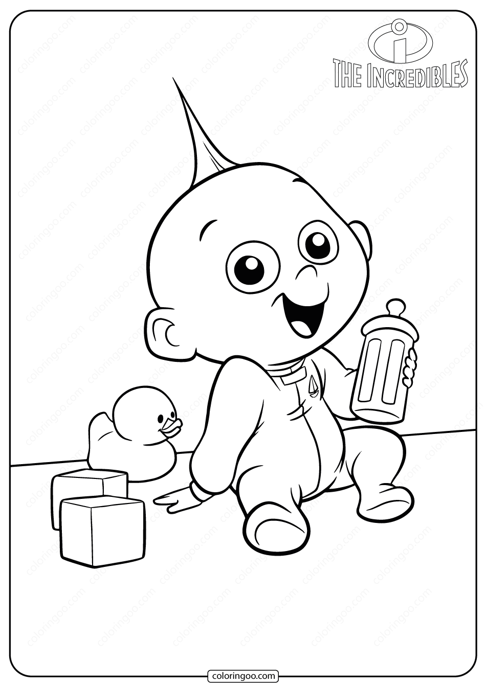The Incredibles Jack Jack Coloring Pages in 2020 The