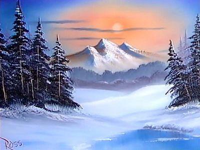 128f0fef6 1986 Bob Ross Winter painting | Art in 2019 | Bob ross paintings ...