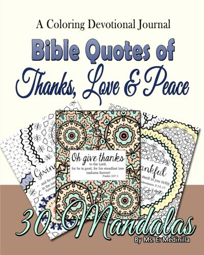 Devotional Journal with Bible Quotes. Coloring Book to pray and relax.