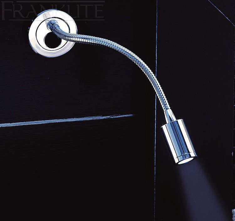 compact chrome flexible led bedside reading light - Wall Mounted Led Reading Lights For Bedroom