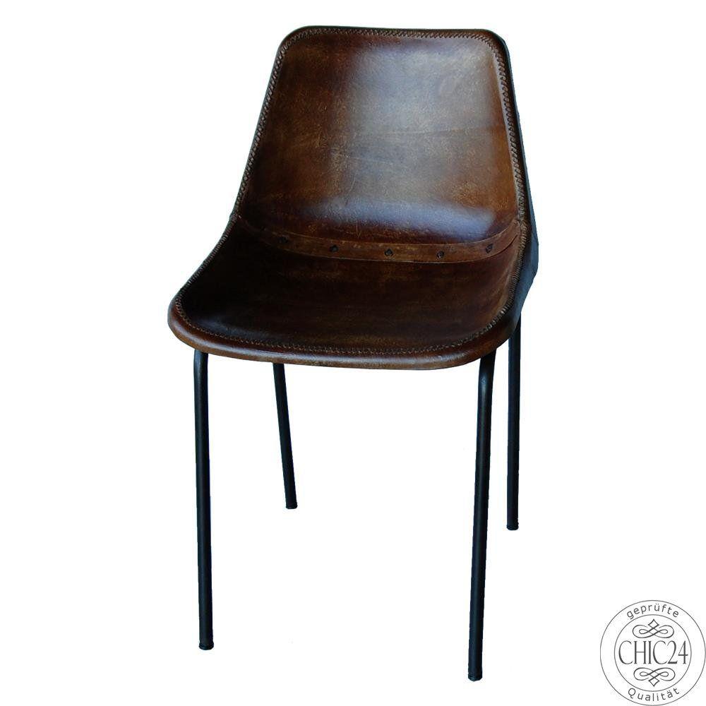 Best Stuhl Leder antikbraun chic Vintage M bel und Industriedesign Lampen u