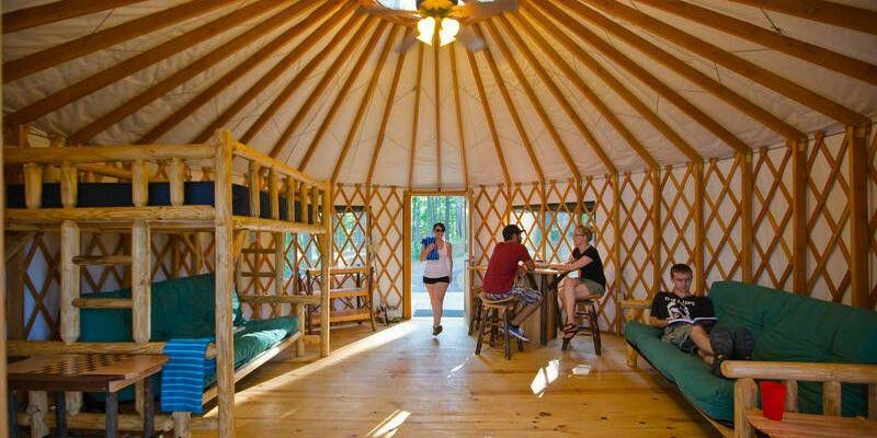 nice hangout in spacious yurt | yurt interiors | pinterest | yurt