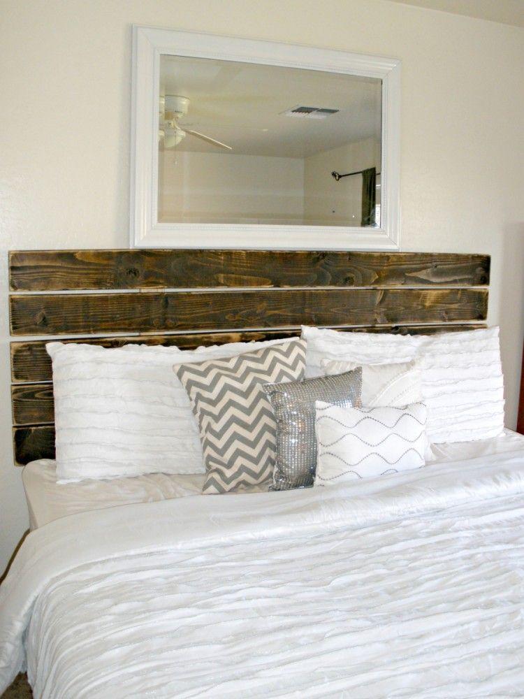 30 diy headboard tutorial budgeting 30th and tutorials for Diy rustic bedroom set