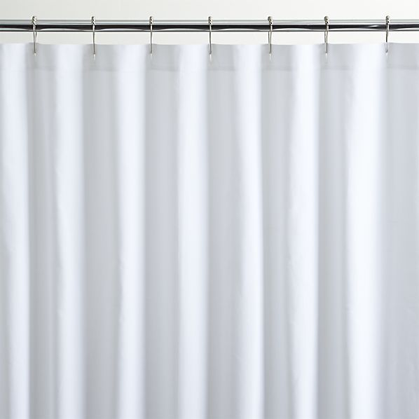 White Canvas Shower Curtain   Crate And Barrel