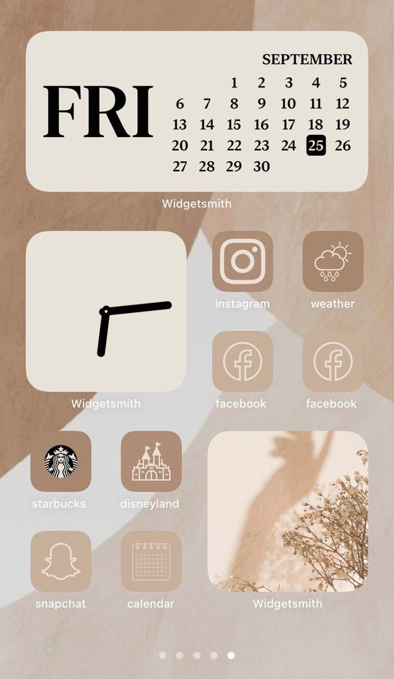 IOS14 Beige icons | IOS 14 Beige Layout Icons | Be