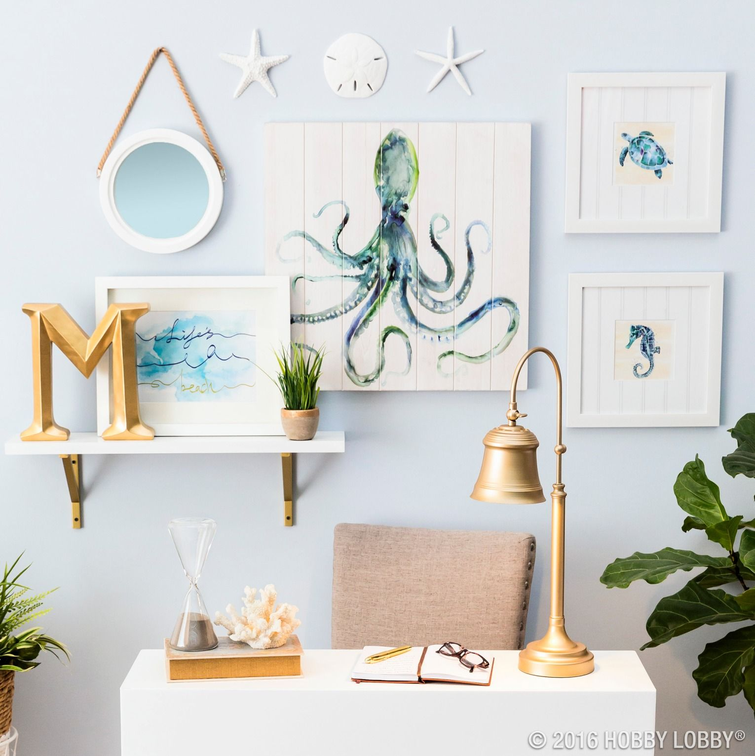 Go For Gold To Give Your Nautical Nook A Modern Twist Beach