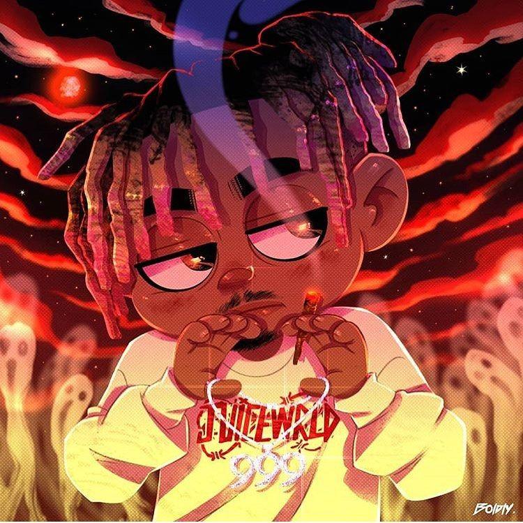 Juice Wrld 9 9 9 On Instagram Boldlyart U Are Too Good Man Follow Juicewrld Ig For More Juicewrld999 Co Rapper Art Anime Rapper Hip Hop Art Cool juice wrld wallpapers animated