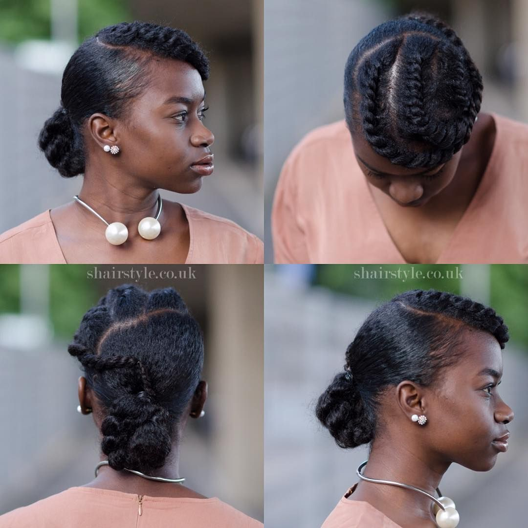 Twist Updo 1 Section Off The Front To Do Your Flat Twists 2 Smooth I Used Ecostyler Gel And Taliah Waajid Natural Hair Updo Hair Styles Natural Hair Styles