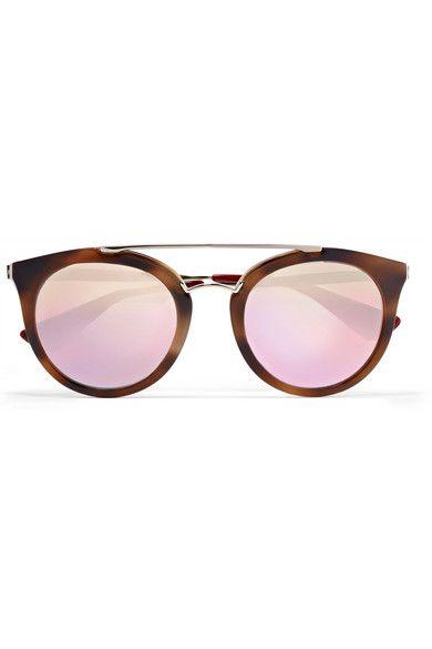 c68a1feebe ... switzerland prada cat eye acetate and gold tone mirrored sunglasses net  a porter 0ba94 fe10a