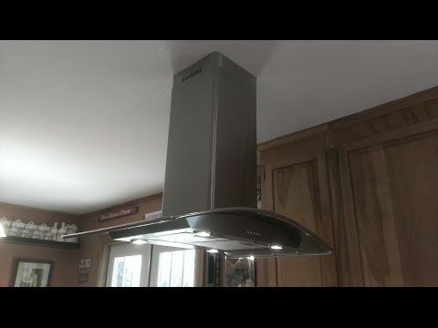 How To Install An Island Mounted Range Hood Plfi 520 Youtube