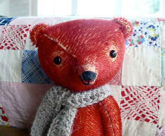 pre drawn Sewing kit to make a bear like George by pussman on Etsy, $55.00