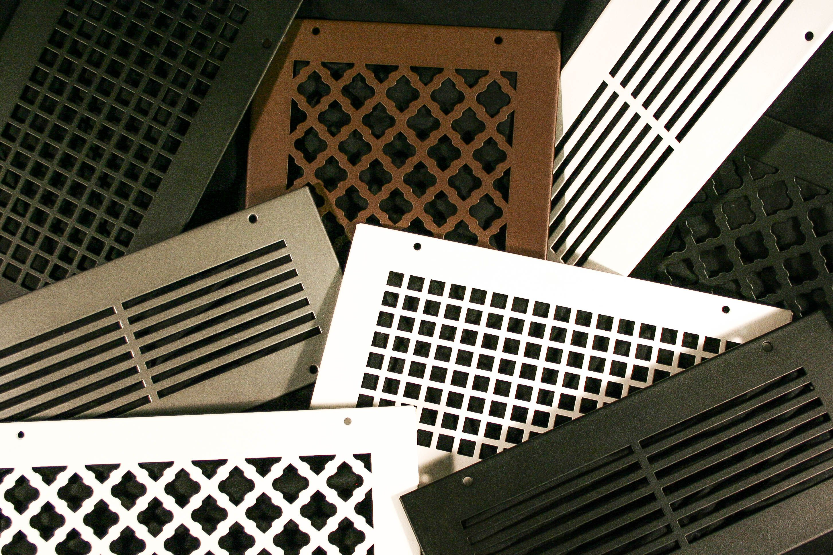 NEW Bronze series custom vent cover grilles. Vent covers