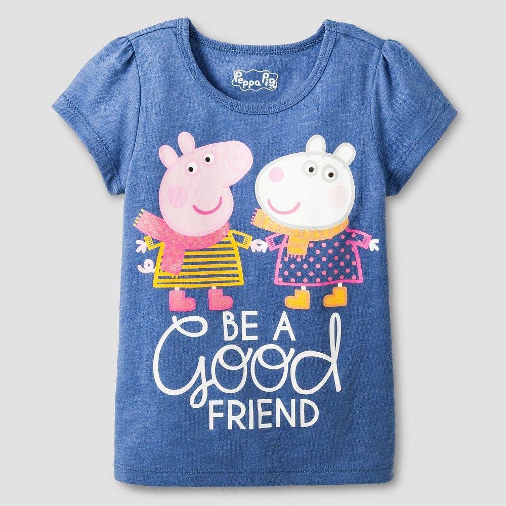 Toddler Peppa Pig Be A Good Friend Shirt Blue 4T, Toddler