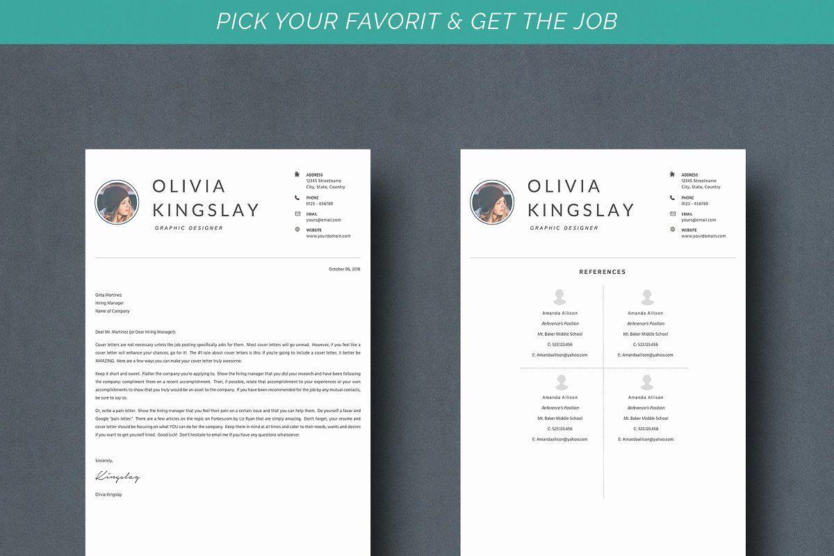 Resume Kingslay Unique resume template, Resume design