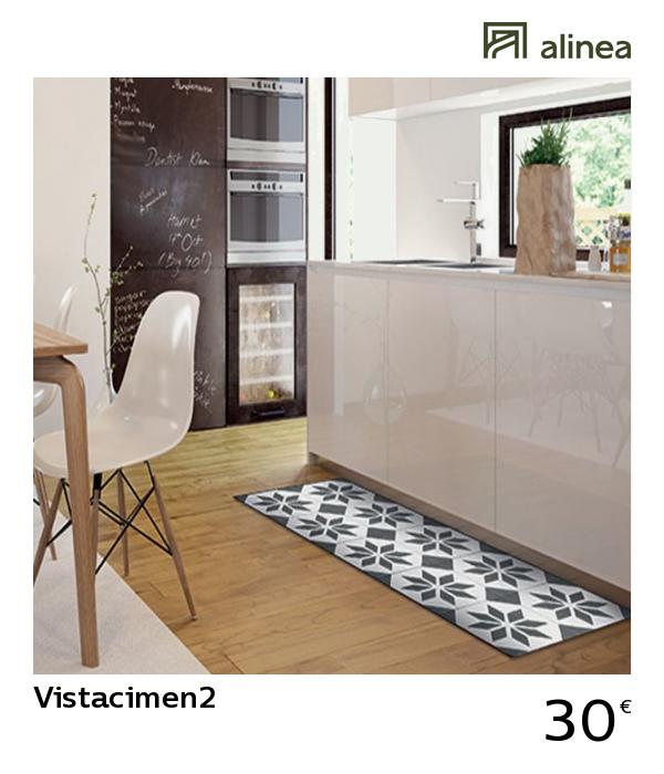 Alinea Vistacimen2 Tapis De Cuisine Carreaux De Ciment 50x120cm En Vinyle Textile Linge De Cuis Tapis Cuisine Cuisine Carreaux De Ciment Carreau De Ciment